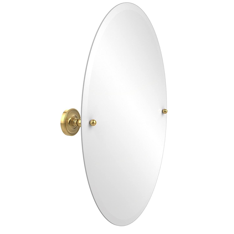 Allied真鍮Prestige Regal Frameless Oval Tilt Beveled壁ミラー PR-91-PB 1 B00BU12YIE 光沢真鍮 光沢真鍮