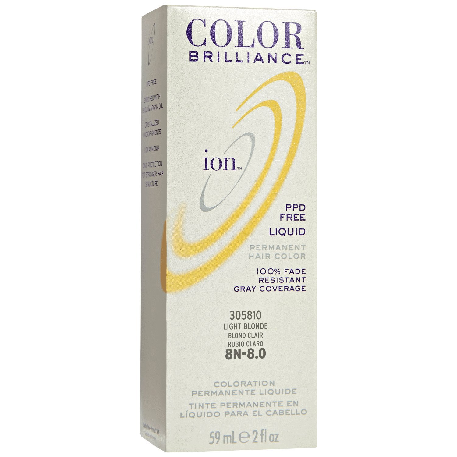 Amazon 8n Light Blonde Permanent Liquid Hair Color Chemical