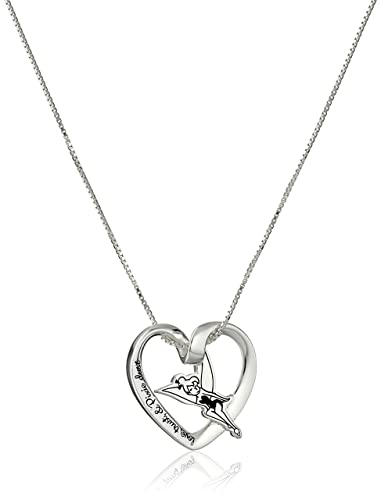 Amazon disney sterling silver love trust and pixie dust disney sterling silver love trust and pixie dust tinkerbell pendant necklace 18quot aloadofball Gallery
