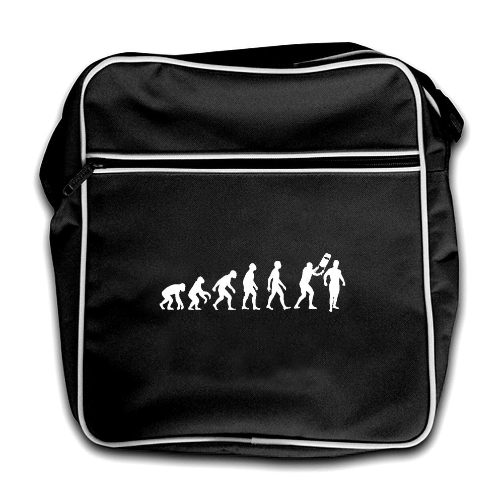 Evolution Of Man Wrestling - Retro Flight Bag-Black