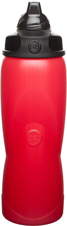 Zak Designs Verve 27 oz. Reusable Squeeze Water Bottles, Fire