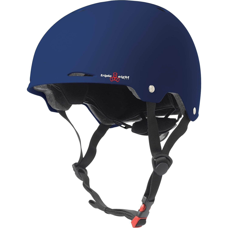 トリプルエイトゴッサムラバーヘルメット、ブルー、ラージ/ラージX