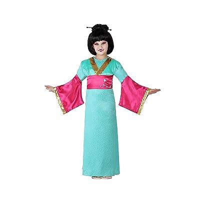 Atosa-23651 Disfraz Geisha, Color celeste, 5 a 6 años (23651: Juguetes y juegos
