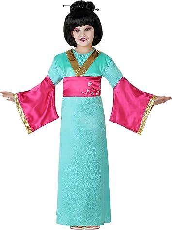 Atosa-23651 Disfraz Geisha, color celeste, 5 a 6 años (23651 ...