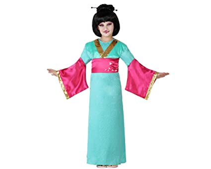 Atosa-23651 Disfraz Geisha, color celeste, 5 a 6 años (23651)