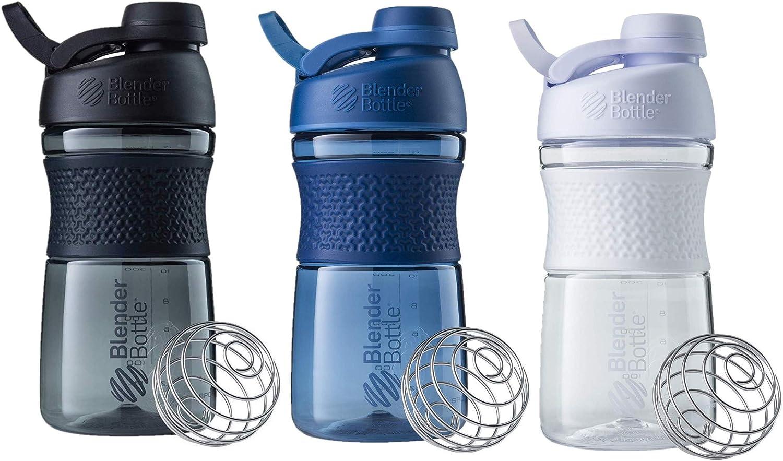 SCS Direct BlenderBottle SportMixer Shaker Bottle 20 oz, 3-Pack, Colors May Vary