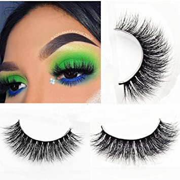 b6c86e71b36 Amazon.com : Miss Kiss Brand Thick 3D Mink lashes Hand-made False Lashes  Stirp Reusable 100% Siberian Fur Fake Eyelash For Makeup 1 Pair Package :  Beauty