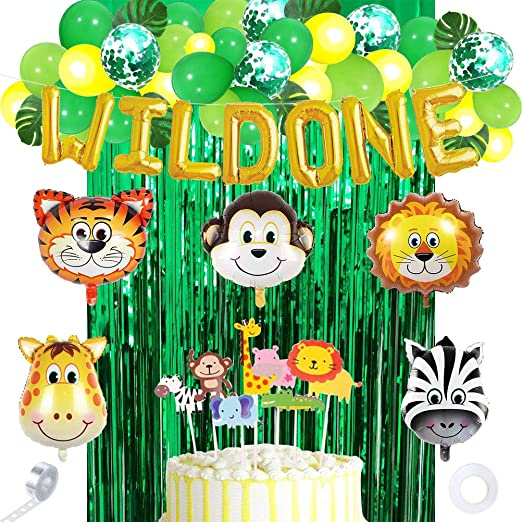 Amosfun Wild One Birthday Party Decoration Kit Primer ...