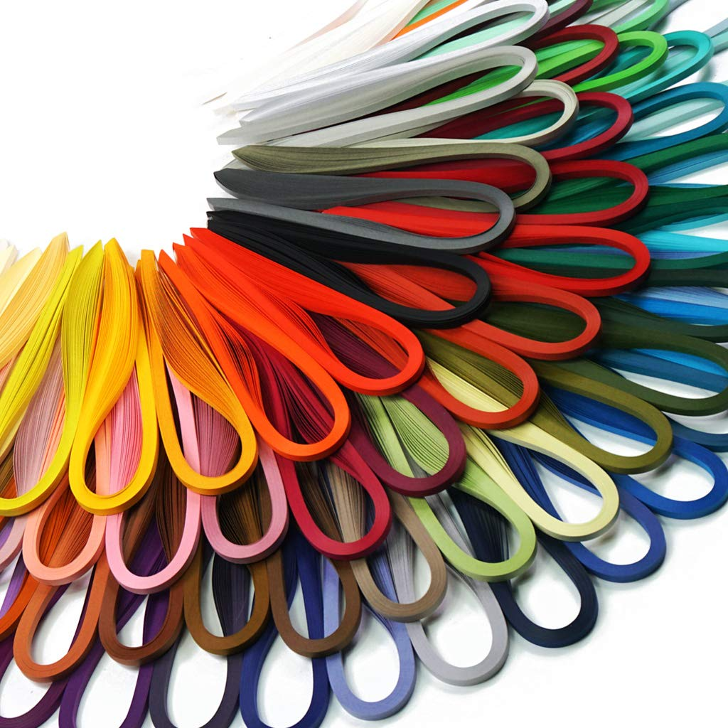 QUILLING - FILIGRANA 2880 tiras de 72 colores 39cm x 5mm