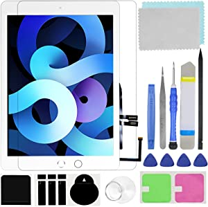 Touch Screen Digitizer for iPad 6 2018 6th Generation A1893 A1954 Front Glass Replacement (with Tempered Glass Film,Tool Repair kit,with Home Button)