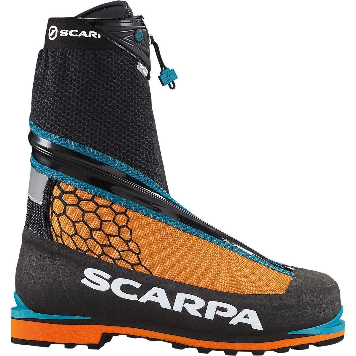 Scarpa Men's Phantom Tech M Mountaineering Boot, Black/Orange, 46.5 EU/12.5 M US