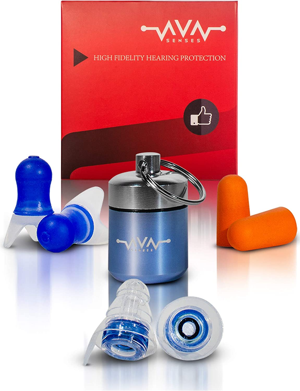 High Fidelity Earplugs for Concerts, Earplugs Sound Blocking