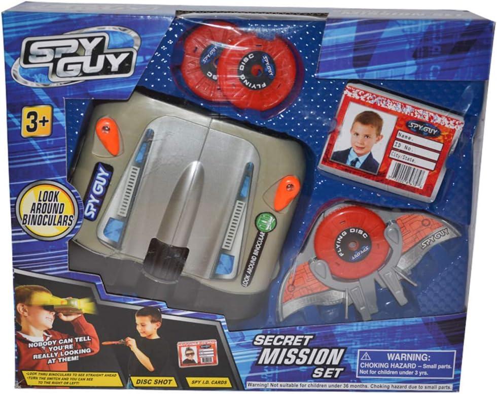 Spy Guy 10 Piece Toy Secret Mission Set with Look Around Binoculars (Binoculars)