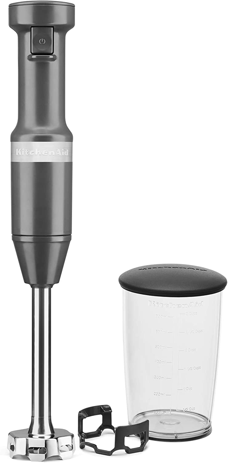 KitchenAid KHBV53DG Variable Speed Corded Hand Blender, Matte Charcoal Gray