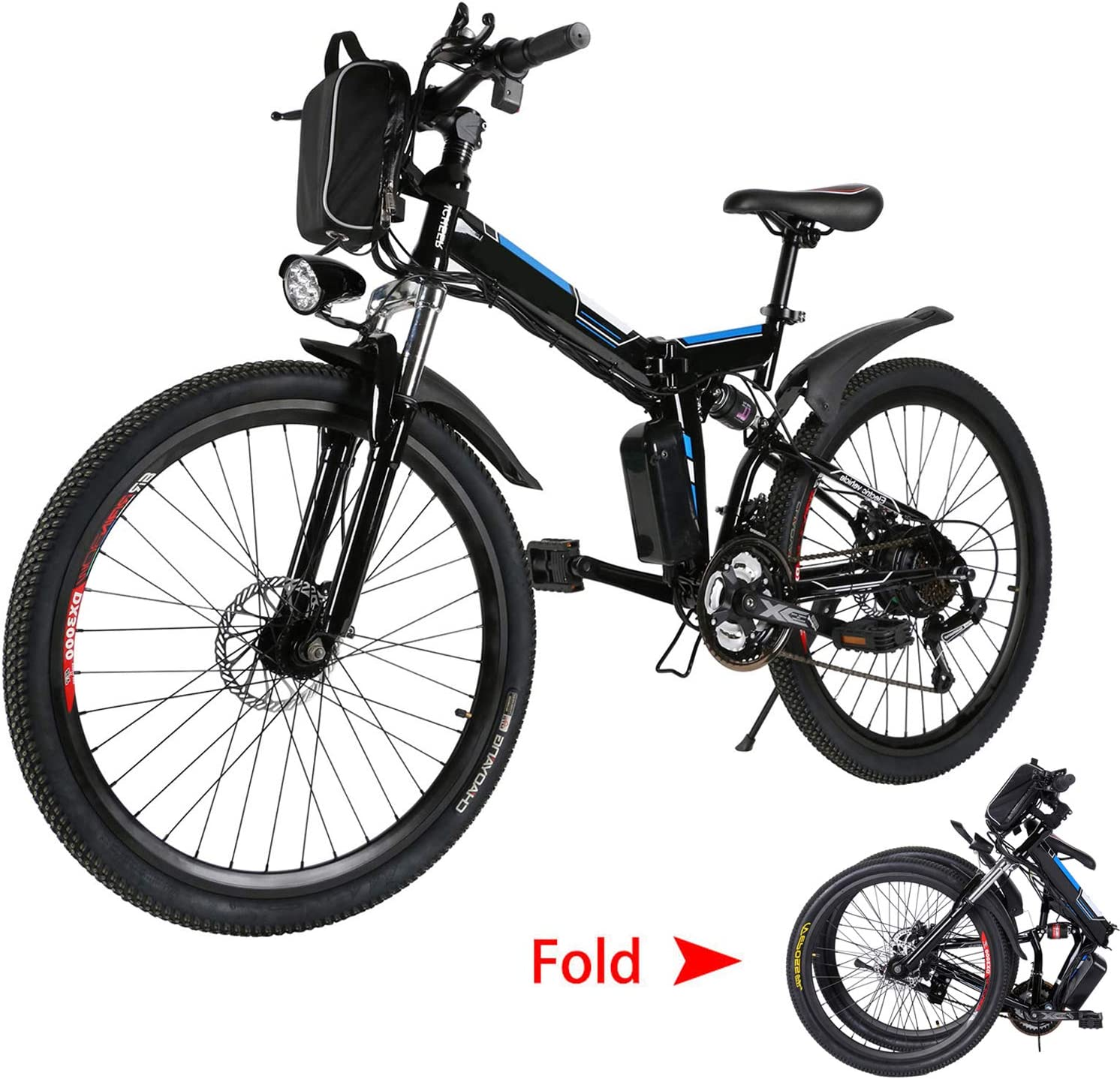 emdaot 26'' Electric Mountain Bike with