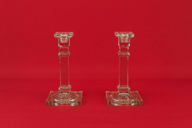 2 Art Deco atractivo limón exprimidor Holder candelabros claro Vintage de cristal 1930s Inglés LS: Amazon.es: Hogar