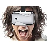 "OCULAR Rapid Virtual Reality Glasses (White) with 42 MM Lenses - VR Box Compatible With 4.5""-6"" Smart Devices"