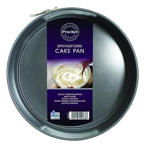 Prochef Teflon Non Stick Coated 9 Inch Spring Form Cake Tin D.23cm