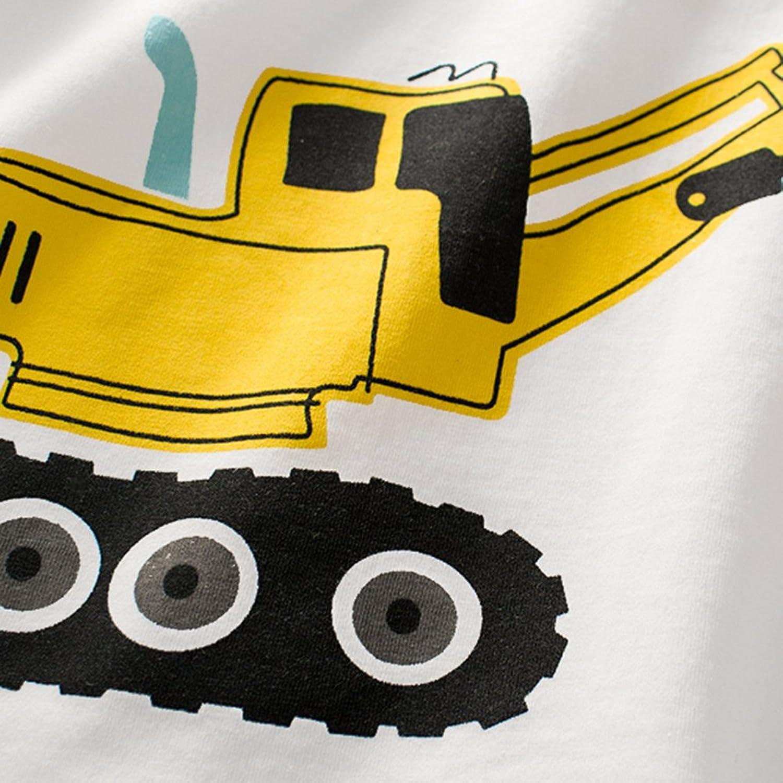 Little Boys' Cotton T-Shirt Short Sleeve Toddler Infant Kids Cartoon  Vehicle Printing Casual Tee: Amazon.co.uk: Clothing