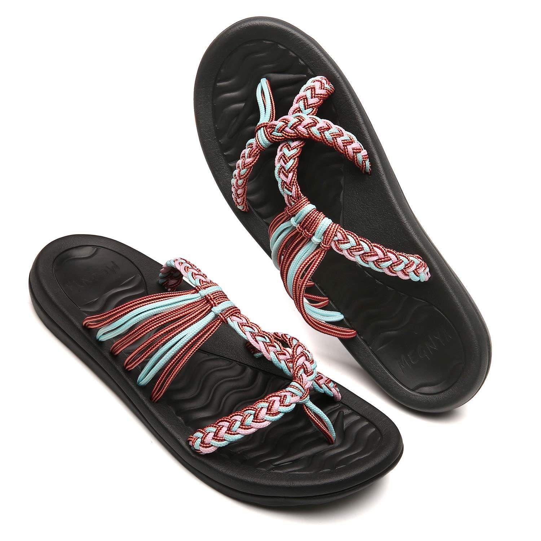 MEGNYA Womens flip Flops Sandals Arch Support Comfortable Walking Summer Water Beach Slipper