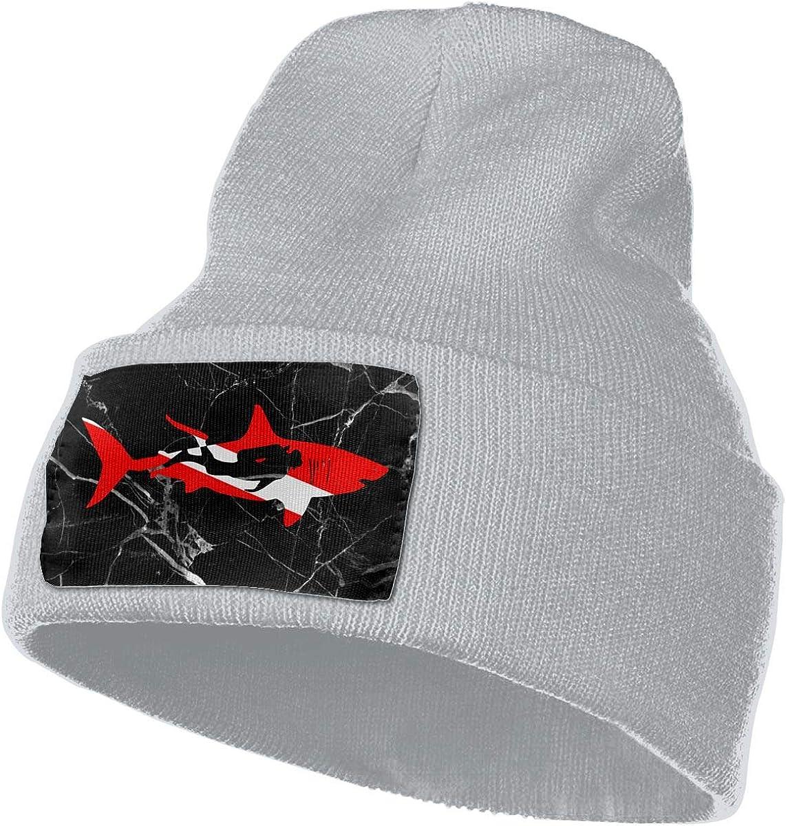 Shark Diver Diving Ski Cap Men Women Knitting Hats Stretchy & Soft Beanie