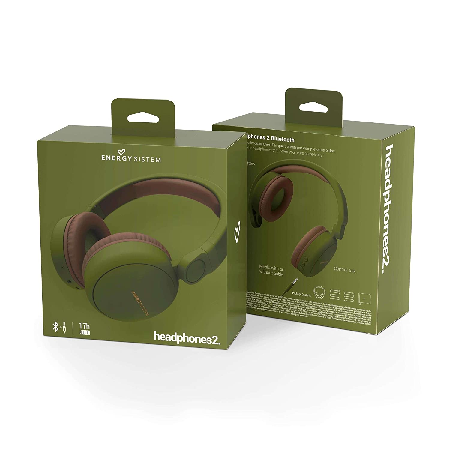 Energy Sistem Headphones 2 - Auriculares con Bluetooth (Over-Ear, Audio-In, Long Battery Life, 180 Plegable) Verde: Energy-Sistem: Amazon.es: Electrónica