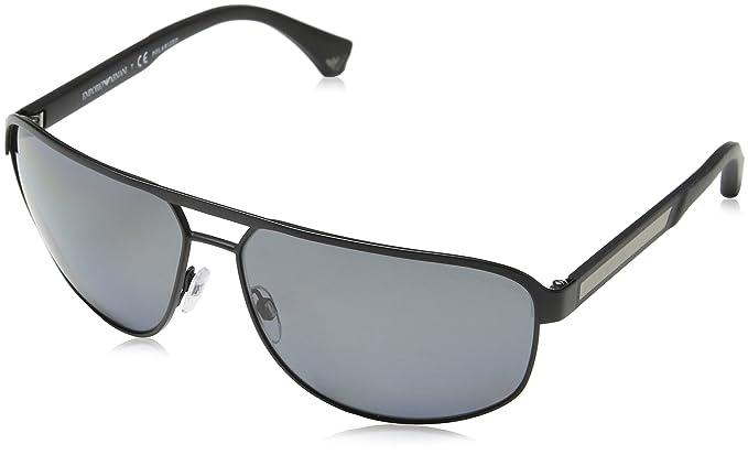 Emporio Armani 300181 2025 Gafas de sol, Ovaladas, 64, Matte Black 300181