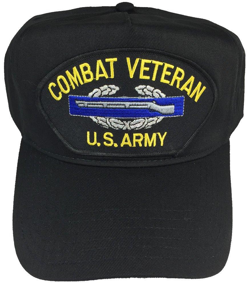 COMBAT VETERAN U.S. ARMY W/ COMBAT INFANTRY BADGE CIB HAT - BLACK - Veteran Owned Business