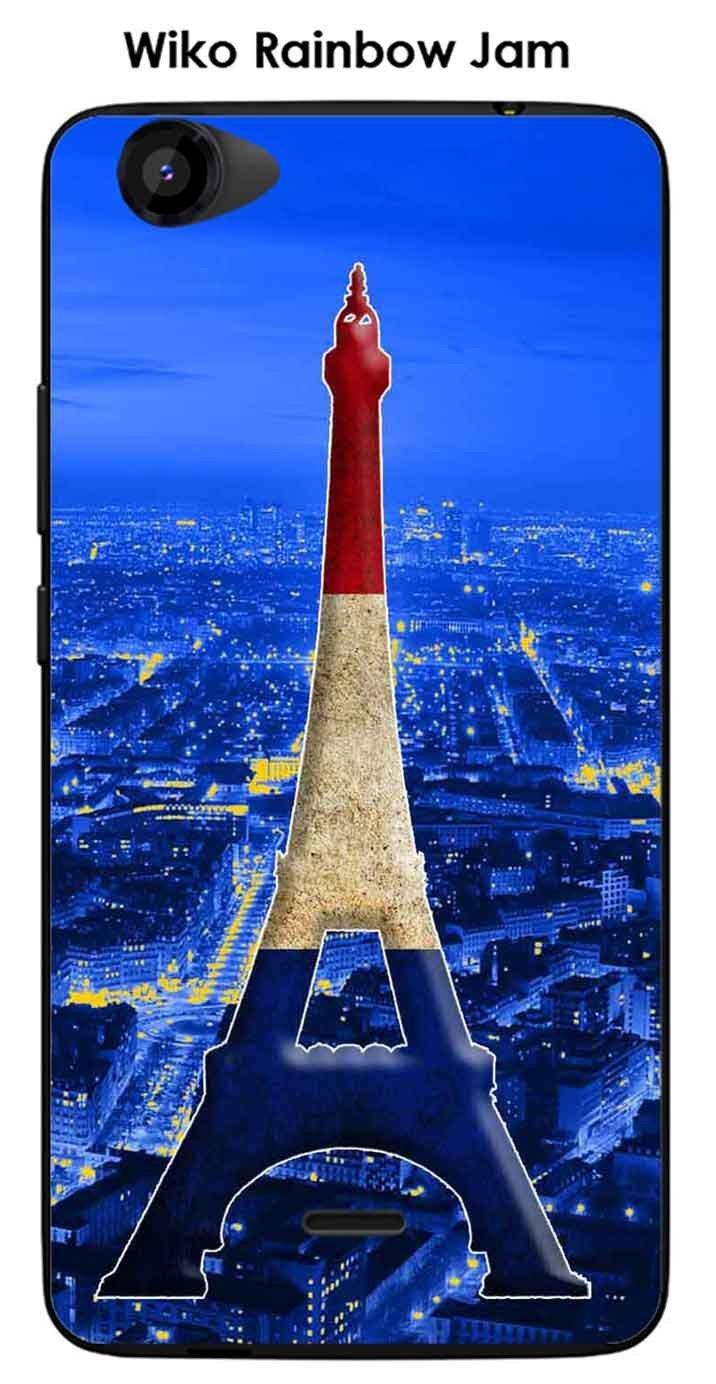 Onozo Carcasa para Wiko Rainbow Jam Design París Torre Azul ...
