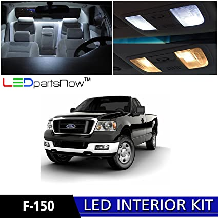 LEDpartsNow 2004 2008 Ford F 150 F150 LED Interior Lights Accessories  Replacement Package Kit