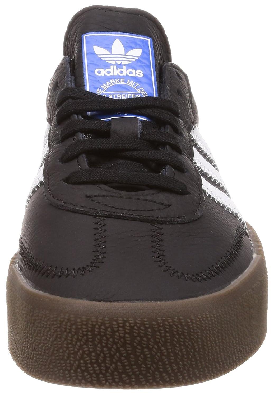 Amazon.com | adidas Originals Womens Sambarose Shoes Black/White/Gum 7 M US | Fashion Sneakers