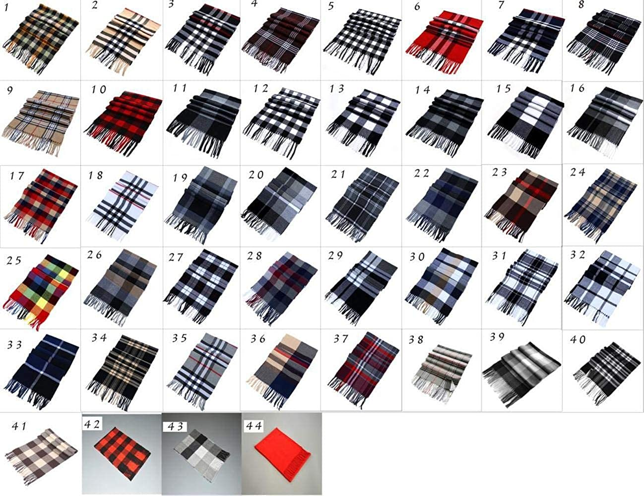 New Autumn and Winter Mens Womens Plaid Cashmere Scarves for Gift of Lovers Necks Scarf