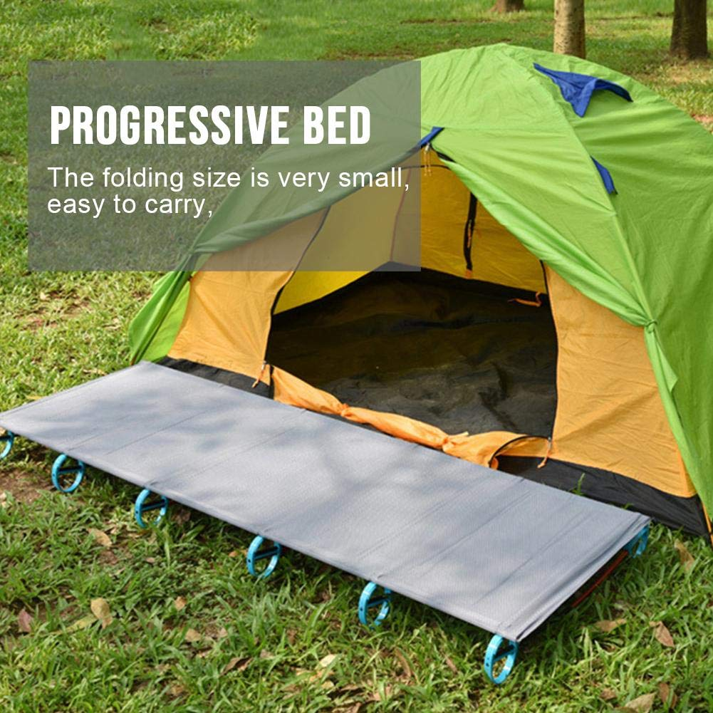 Portable Folding Bed Aluminum Alloy Camp Bed Crib Accompanying Lunch Break Suitable for Outdoor//Camping Trip//Hiking Fishing//Hunting//Beach//Camping