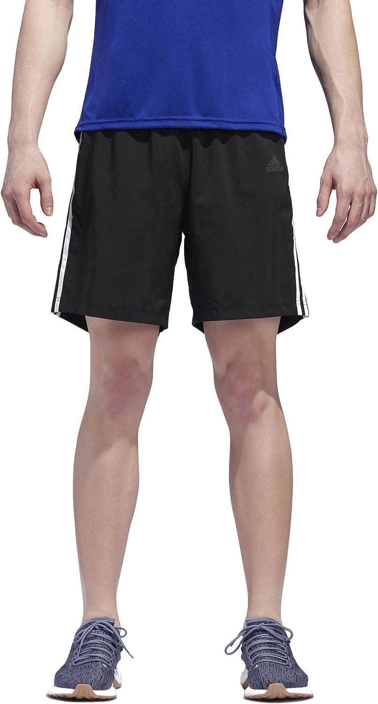 adidas Men's 3-Stripes Run Shorts Short Black/White