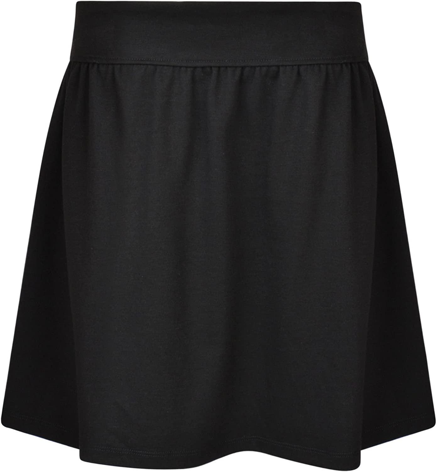 Ex UK Store Girls School Skirt Jersey Stretch Adjustable Waist 3-16 Years