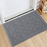 Indoor Doormat Absorbent Mats Rubber Backing Non Slip Door Mat for Front Door Inside Floor Mud Dirt Trapper Mats…
