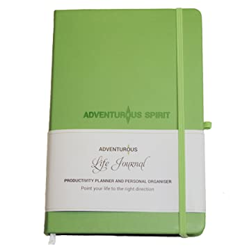 Adventurous Life Journal A5 Undated Daily Planner And Organiser For Increased Happiness And Productivity; Weekly And Monthly Reflections+ Bonus Stickers by Adventurous Life Journal
