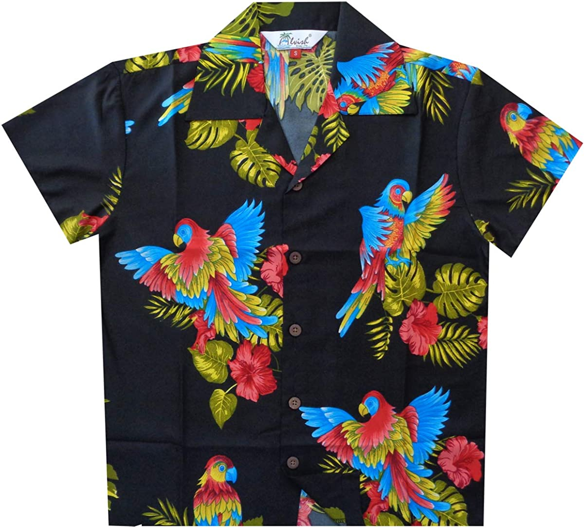 Boys Coconut Tree Print Beach Tops Baby Aloha Hawaiian Shirt 1-5 Years Old