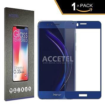 Accetel Huawei Honor 8 Protector Cristal Templado Cobertura ...