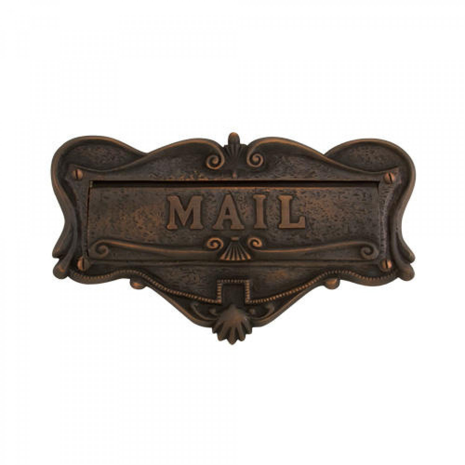 Naiture Solid Brass Mail Slot in Oil Rubbed Bronze Finish by SH