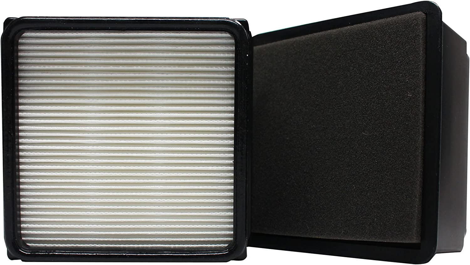2-Pack Replacement for Dirt Devil Breeze Cyclonic Bagless Upright UD70105B Vacuum HEPA Filter and Foam Filter Insert - Compatible with Dirt Devil 304708001, F59, F66 HEPA Filter and Foam Filter Insert