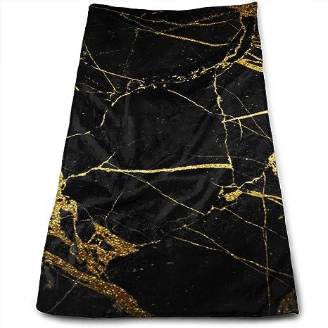 DAPANLA - Toallas de mármol de Color Negro Dorado para Coches de Belleza, Muebles y