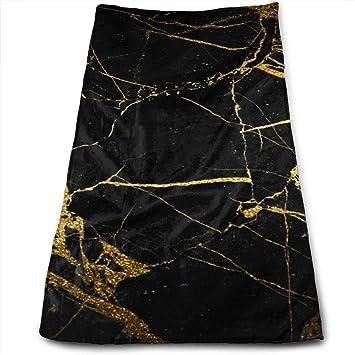 DAPANLA - Toallas de mármol de Color Negro Dorado para Coches de Belleza, Muebles y Mascotas - Ultra Suave Absorbente y Lavable a máquina: Amazon.es: Hogar