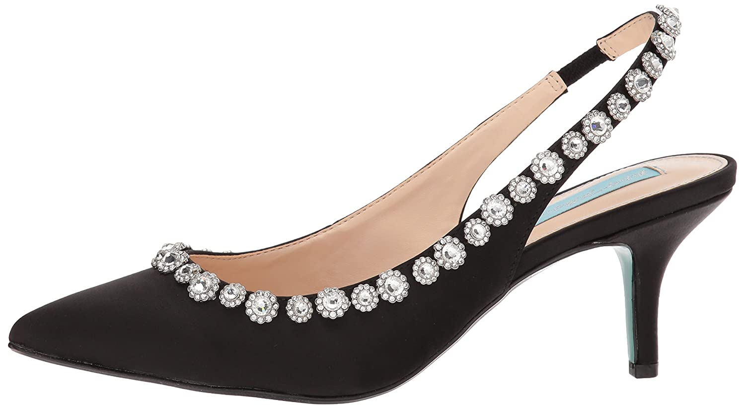 Blue by Betsey Johnson Women's SB-Cici Pump B0757MHR5K 7.5 M US|Black Satin
