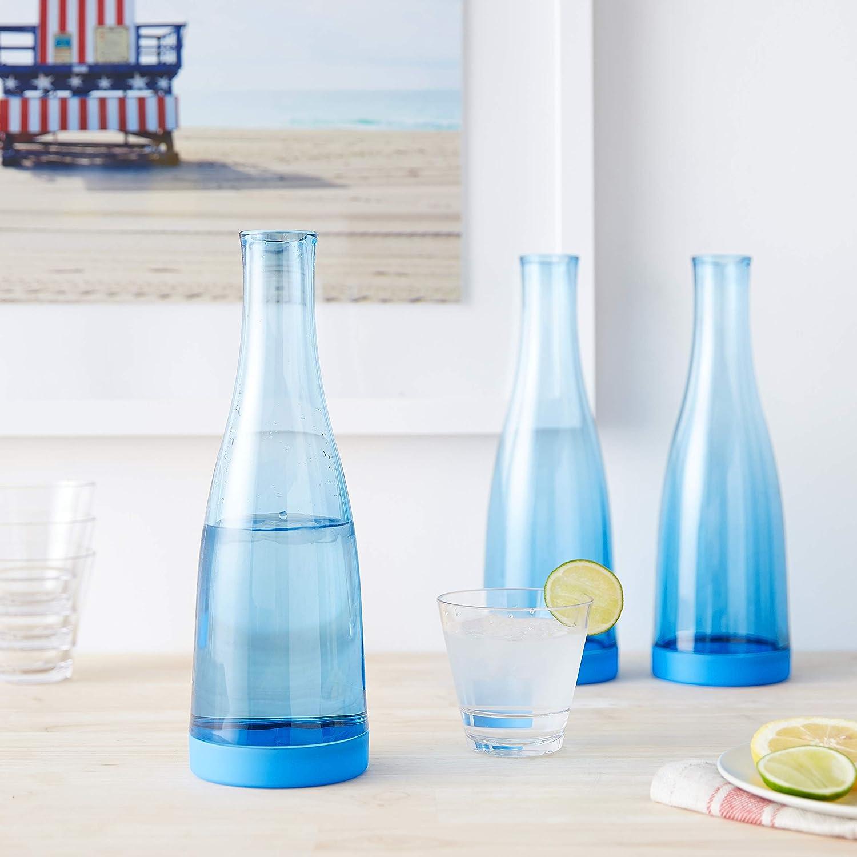 32 oz Blue Drinique Beverage Service Easy Clean Carafe Decanter