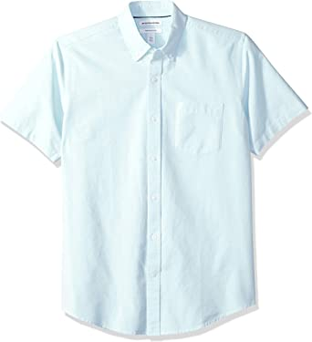 Amazon Essentials – Camisa Oxford de manga corta de corte recto para hombre: Amazon.es: Ropa y accesorios