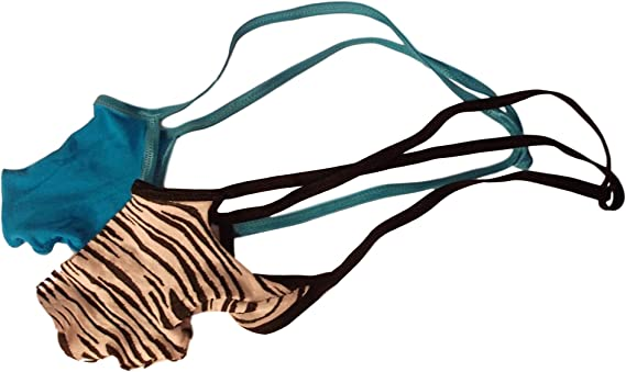 Men/'s G String Thong Underwear PUSH OUT Front Missile Torpedo Turquoise or Tiger