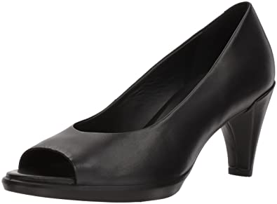 ddaf040a0ad5 ECCO Women s Women s Shape 55 Peep Toe Pump Black 37 M EU (6-6.5