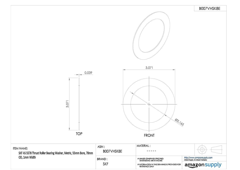 15.000 ID SKF Needle Thrust Roller Bearing Bearing steel