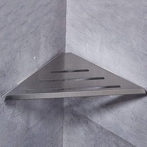 Estante de la esquina del cuarto de baño, Womdee WC ducha estante ducha pared Caddy almacenamiento de ducha cesta cuarto de baño triangular esquina rack con bolsa de tornillo fuerte succión: Amazon.es: